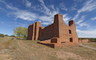Quarai ruins of Mission Church at Quarai Pueblo